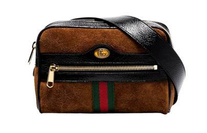 Gucci: Ophidia suede belt bag