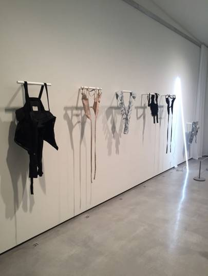 Helmut Lang's harness and holsters.