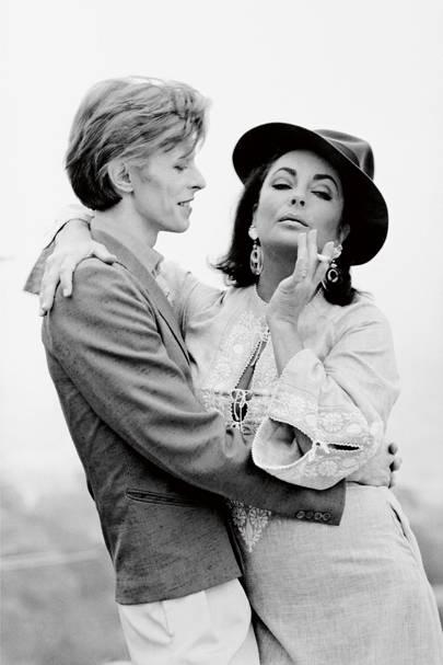 Elizabeth Taylor and David Bowie, 1975