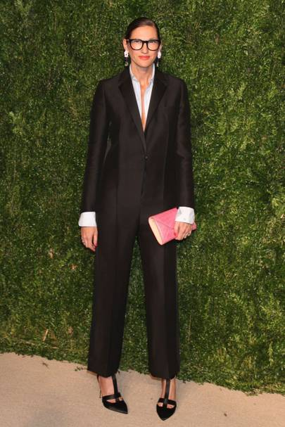 Tuxedos are never boring - especially when they've morphed into a jumpsuit