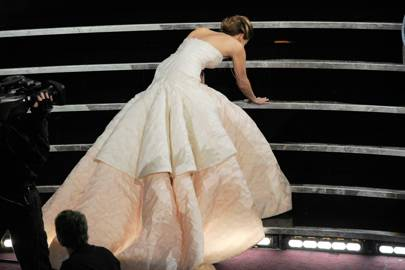 Jennifer Lawrence on her Oscars fall