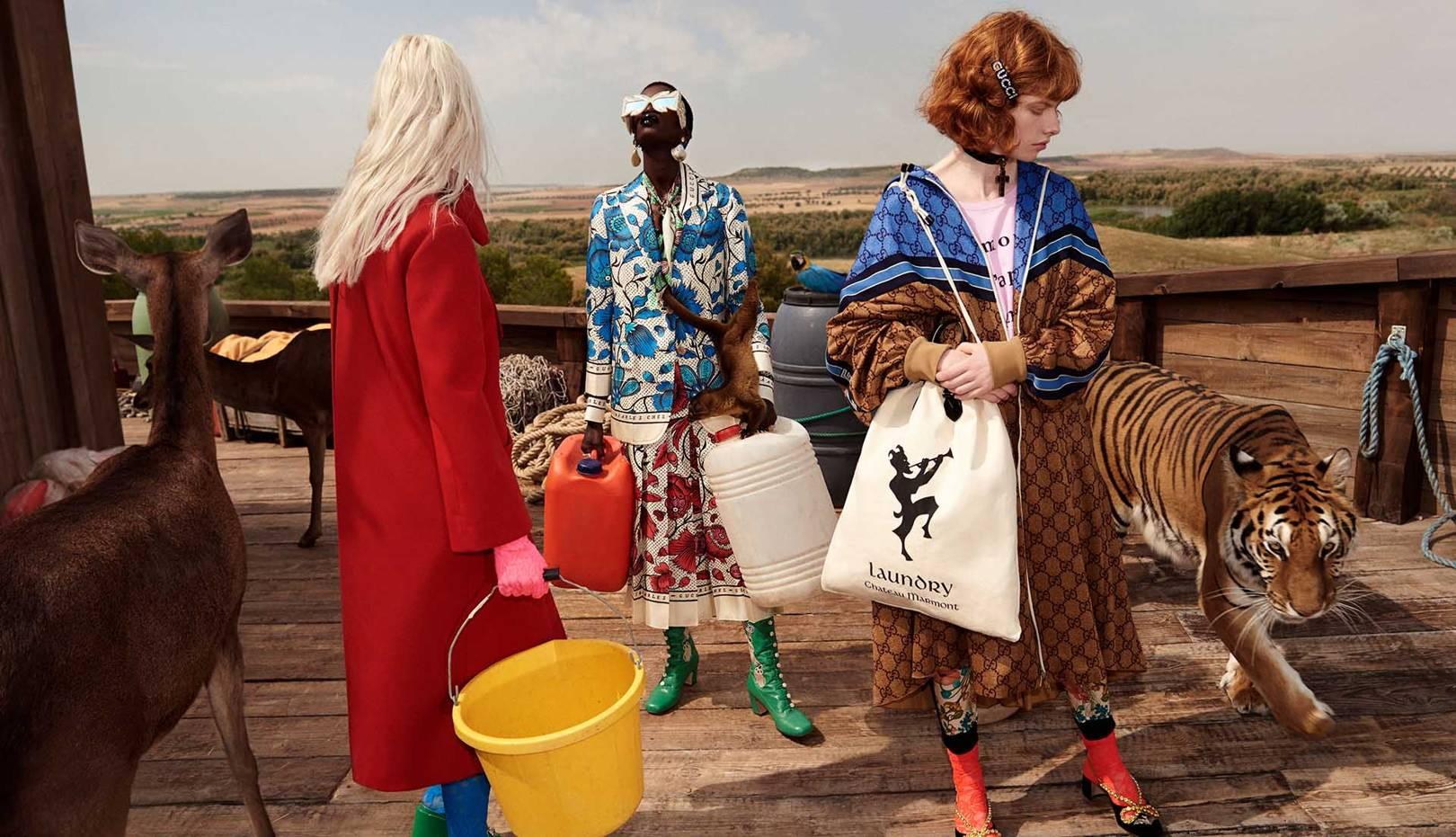 e8b6998d52 Gucci Embraces A Surreal Noah s Ark Theme For Cruise 2019