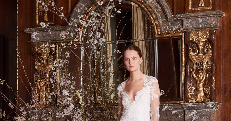 161cd98209b7c Monique Lhuillier Spring/Summer 2019 Bridal show report | British Vogue