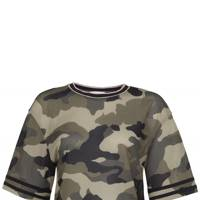 Camouflage cropped T-shirt, £25