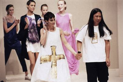 With Sinead O'Connor on the catwalk in 1994