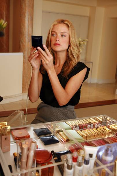 At the Estee Lauder Luxury Beauty Spa Experience in 2006
