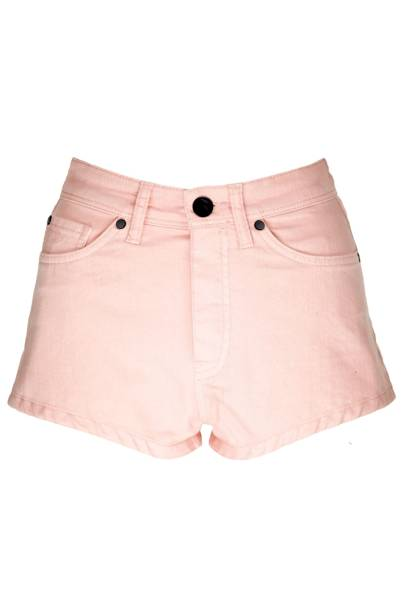 Pink denim shorts, £35