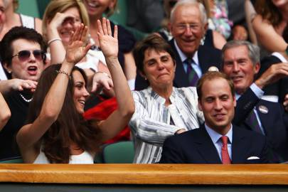 Wimbledon 2011 doing a Mexican wave with Prince William