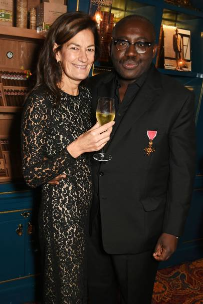 Incoming fashion director and editor-in-chief, Venetia Scott and Edward Enninful