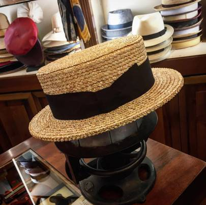Wear: hats from Antica Cappelleria Troncarelli