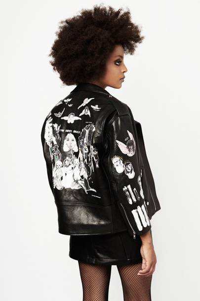 Leather biker jacket, £1,270