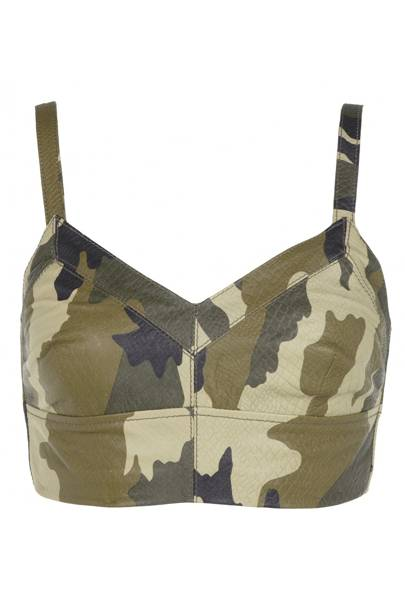 Limited edition camouflage bra top, £70