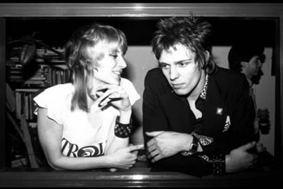 Caroline Coon and Paul Simonon, 1977