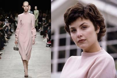 Audrey Horne's pale rose pink