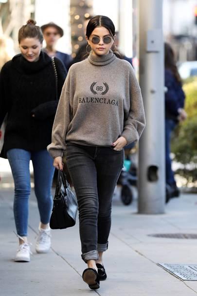 Selena Gomez Found The Chicest Way To Wear The Logo Trend British