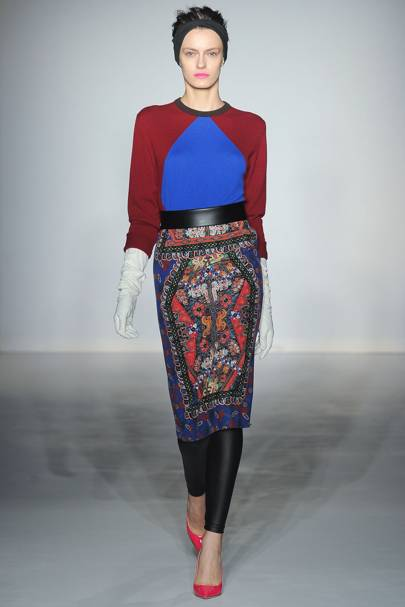 96898a4ea85 Clements Ribeiro Autumn Winter 2012 Ready-To-Wear show report ...