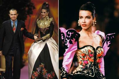 From left, Christian Lacroix Haute Couture, Autumn/Winter 1992-93 and Autumn/Winter 1989-1990