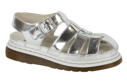 Silver sandals, £125