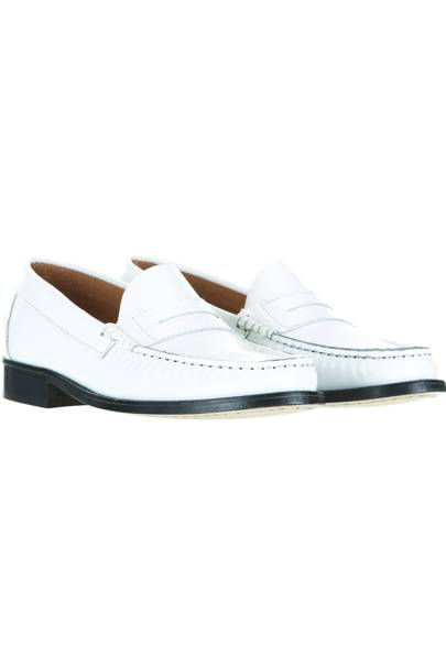 White loafers, £70