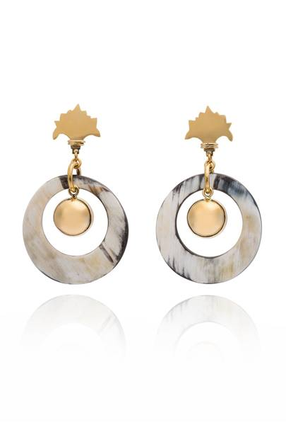 Irga White Déco Earrings