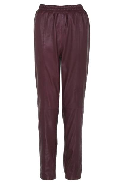 Limited edition red leather trousers, £150