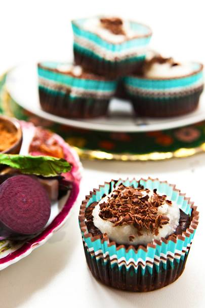 ChocBeet Fudge Cakes
