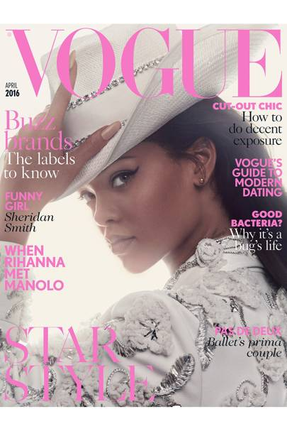 490b8855373b RIHANNA stars on her second British Vogue cover this month