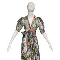 Ossie Clark chiffon dress with Celia Birtwell print