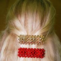 The fashion pointer: beaded hair-clips