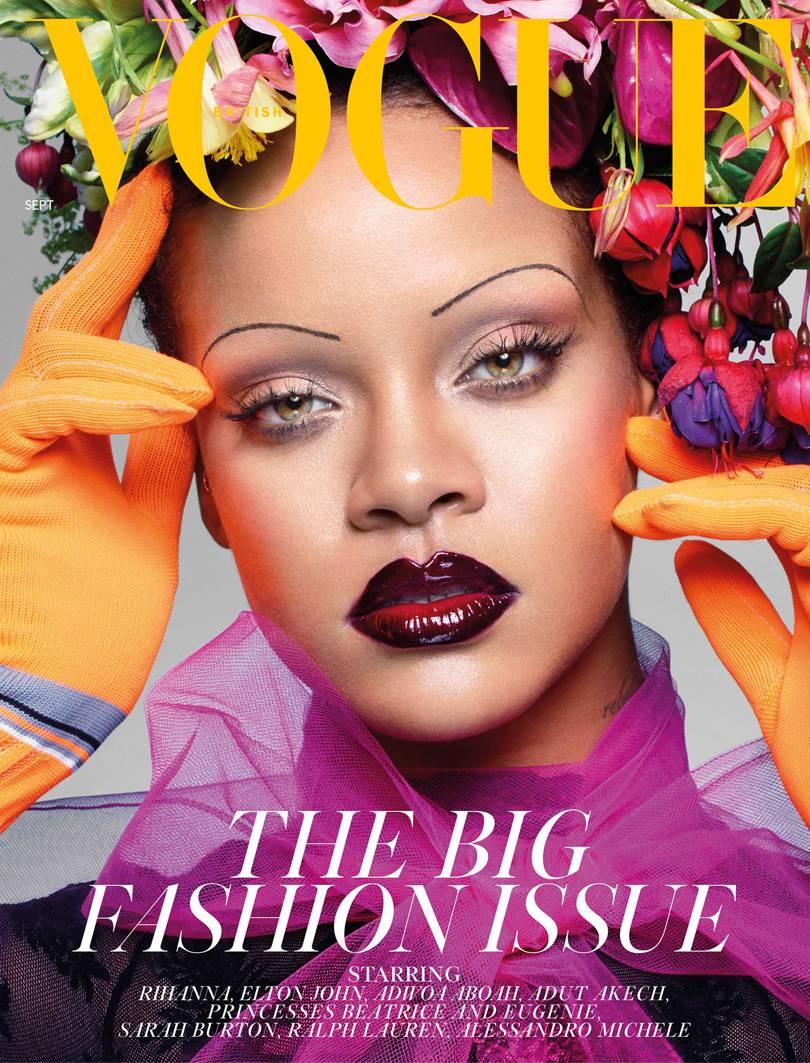 Rihanna faz história ao fotografar para edição de setembro da Vogue  britânica fd27112db3
