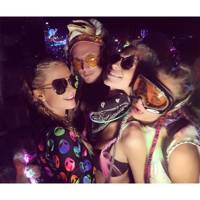 Paris and Baron Hilton with Poppy and Cara Delevingne