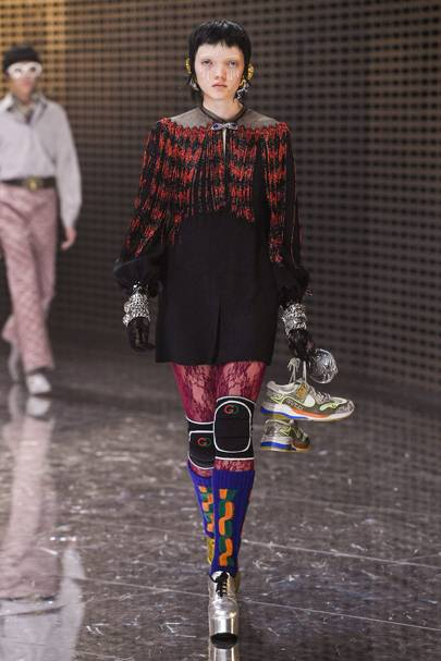 Gucci kneepads entered the Michele lexicon