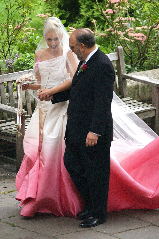 Oscar winning celebrity wedding dresses - Colourful Wedding Dresses Celebrity Brides And Bridal Gowns British Vogue