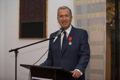 Mario Testino accepts the Légion D'Honneur