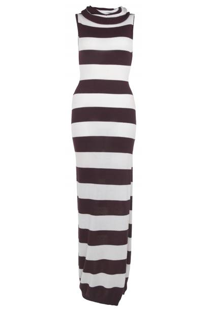 Striped maxi dress, £60