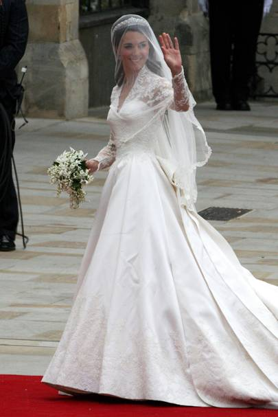 3d924d75c74 APRIL 29 2011 - As she stepped onto the red carpet at Westminster Abbey on  her wedding day