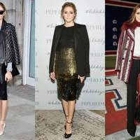 Olivia Palermo's draped jacket
