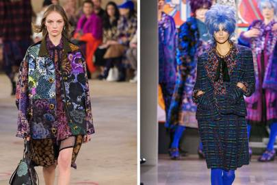 9d8f1ce98d Colours were bright and often surprising in Coach (left) and Anna Sui shows  at New York Fashion Week
