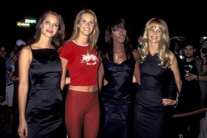 Christy Turlington, Elle Macpherson, Naomi Campbell and Claudia Schiffer