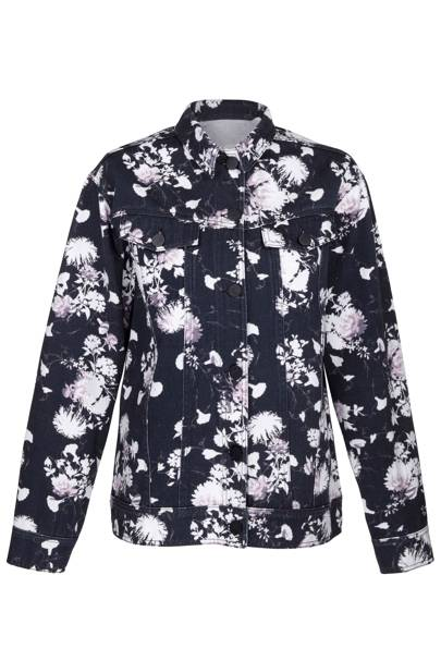 Floral printed denim jacket, £70