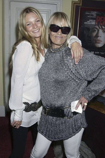 With Kate Moss in 2004