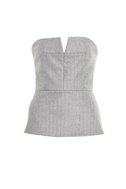 Tweeted bustier, £675, Richard Nicoll