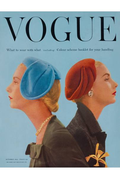 Vogue cover, October 1954