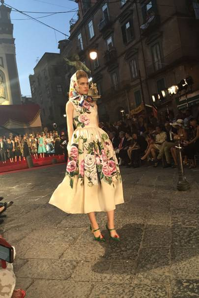 Nice girls in 1950s frocks splattered with flowers were one of Domenico and Stefano's influences.