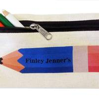 A personalised pencil case