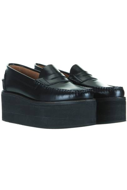 Black platform loafers, £85