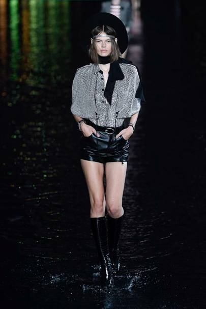 Knee-high boots and platform heels are replacing wellies
