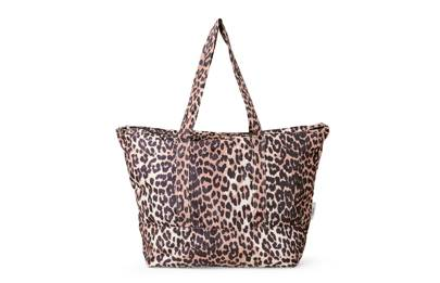 Ganni large tech-fabric shopper