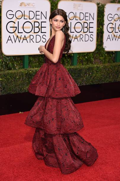 Zendaya at the 2016 Golden Globes