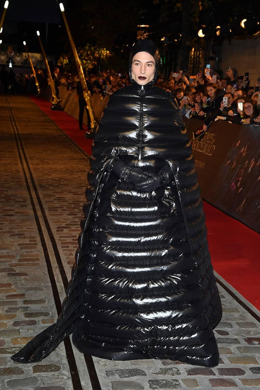 Image result for After Priyanka Chopra, Actor Ezra Miller Wear Garbage Bag Dress